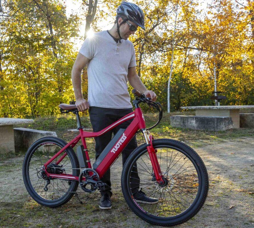 Man about to ride XPLR Bike