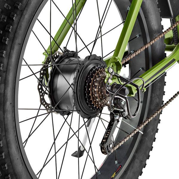 cnqr green rear hub
