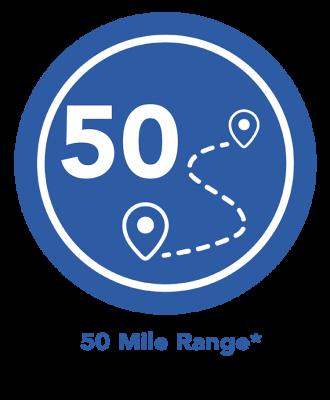 50 Mile Range eBike Icon