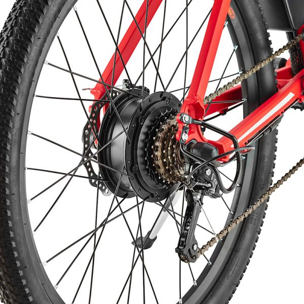 xplr red rear hub