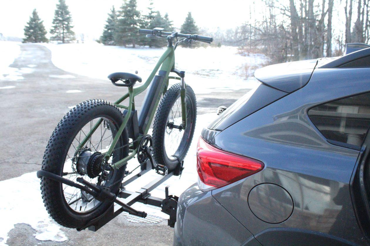 Electric Bike on Car Rack