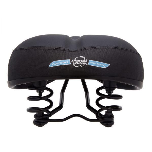 Planet Bike Comfort Web Spring Bike Seat Womens Black Back View