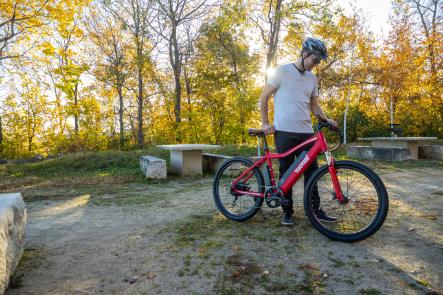 ride electtric red tuoteg bike