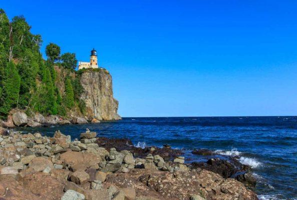 best bike trail in northern Minnesota Split Rock Lighthouse