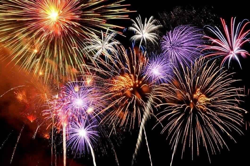 fireworks in sky - electric bike
