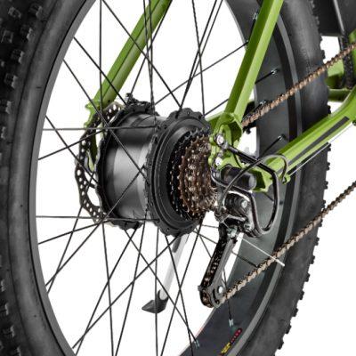 Green CNQR rear hub avoid flat tires