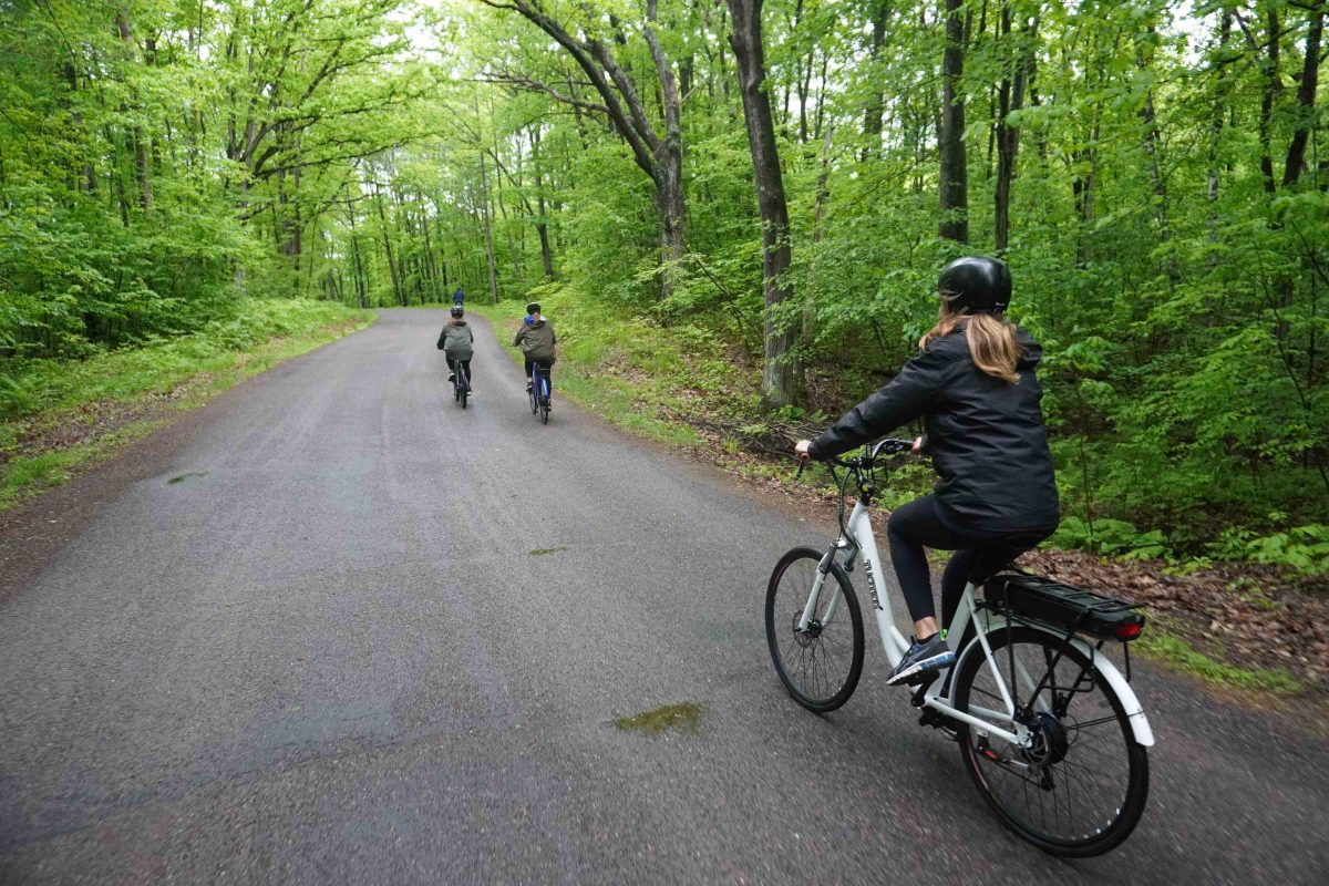 riding on bike trail - how to avoid flat tires on a bike
