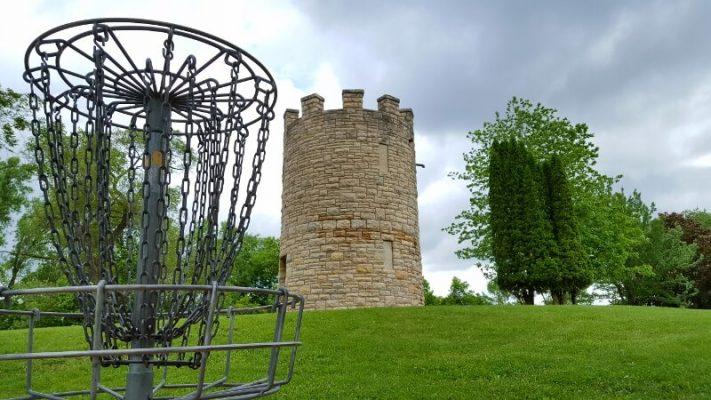 Memorial Park Bike Trail frisbee golf